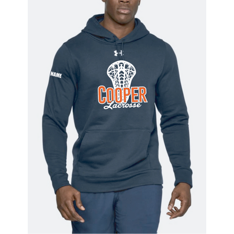 Cooper Lacrosse Men's Under Armor (Hustle Fleece Hoody) Navy
