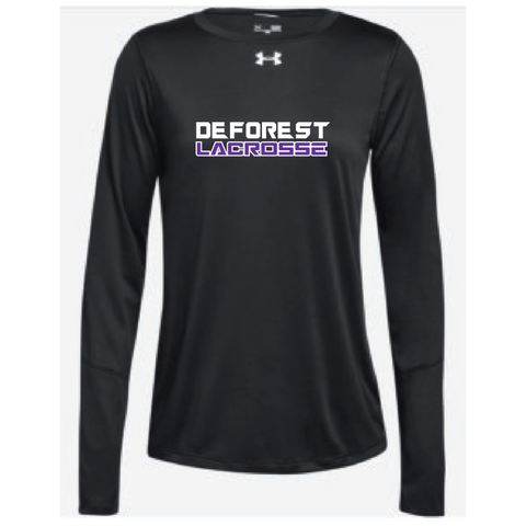 DeForest Lacrosse Women's Under Armour (Locker LS) Black