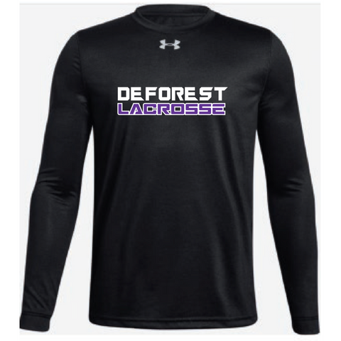 DeForest Lacrosse Youth Under Armour (Locker T LS) Black