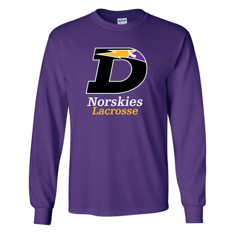 DeForest Lacrosse UNISEX Gildan (Ultra Cotton LS) Purple