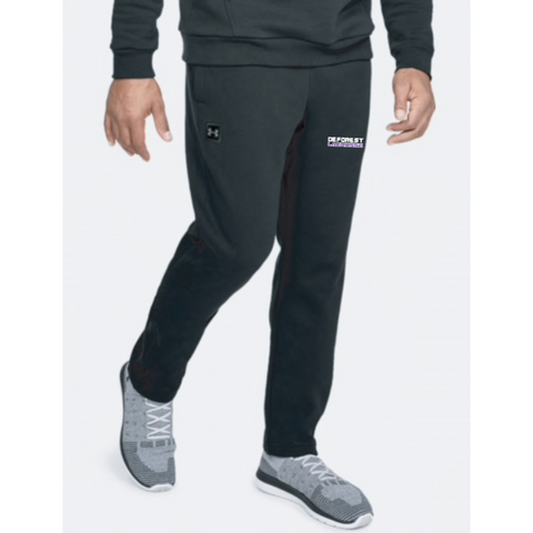 DeForest Lacrosse Men's Under Armour (RIVAL FLEECE PANT) Black