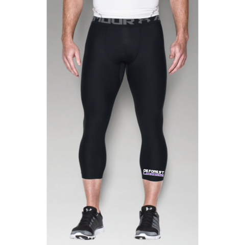 DeForest Lacrosse Men's Under Armour (HG ARMOUR 2.0 3/4 LEGGING) Black
