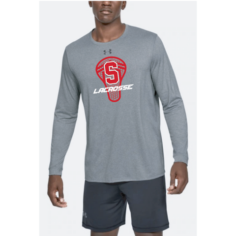 Stillwater Lacrosse Adult Under Armour (Locker Tee 2.0 LS) Gray