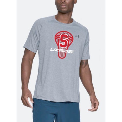 Stillwater Lacrosse Adult Under Armour (Tech Tee) Steel Light Heather
