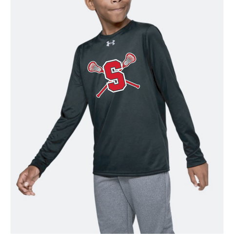 Stillwater Lacrosse Youth Under Armour (Locker Tee LS) Black