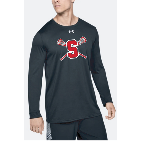 Stillwater Lacrosse Adult Under Armour (Locker Tee 2.0 LS) Black