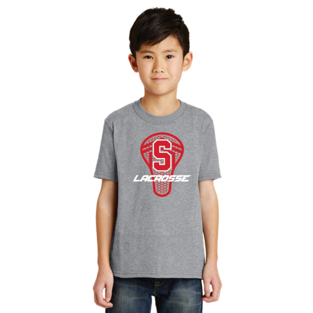 Stillwater Lacrosse Youth Port & Company (Core Blend Tee) Gray