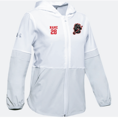 Stillwater Lacrosse Youth Under Armour (Squad Woven Jacket) White