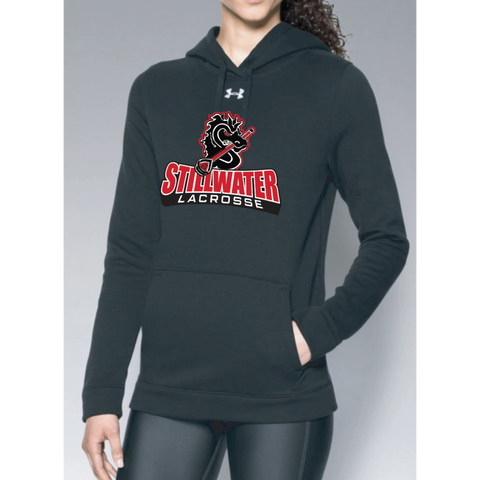 Stillwater Lacrosse Women's Under Armour (Hustle Fleece Hoody) Black