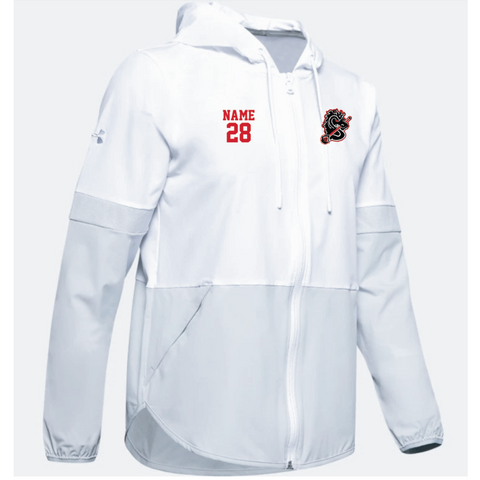 Stillwater Lacrosse Women's Under Armour (Squad 2.0 Woven Jacket) White