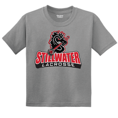 Stillwater Lacrosse Youth Gildan (DryBlend 50/50 T-Shirt) Gray