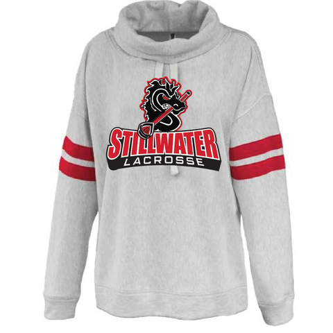 Stillwater Lacrosse Women's (varsity cowlneck) Red/Gray