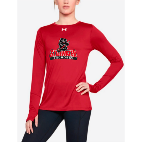 Stillwater Lacrosse Women's Under Armour (Locker LS 2.0) Red