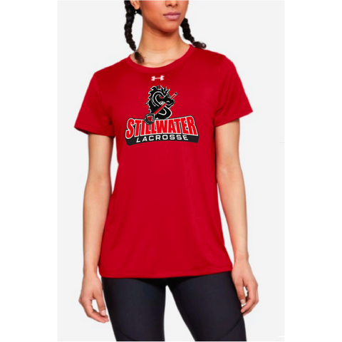 Stillwater Lacrosse Women's Under Armour (Locker Tee 2.0) Red