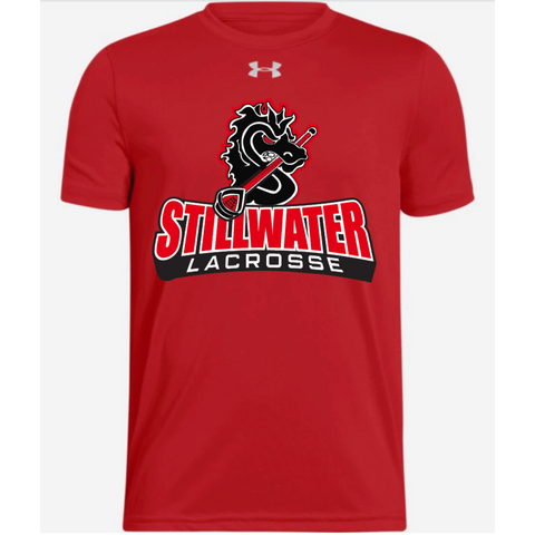 Stillwater Lacrosse Youth Under Armour (Locker Tee SS 2.0) White