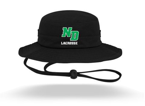 ND Lacrosse Pacific Headwear (Bucket Hat) Black