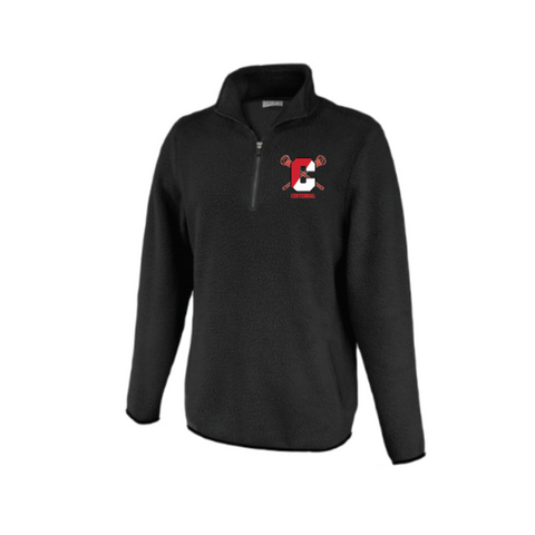 Centennial Lacrosse Women's Pennant Sherpa 1/2 Zip - Black ***PLAYER ONLY***