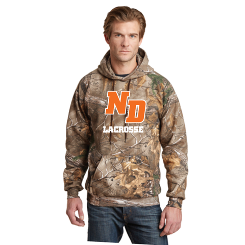 ND Lacrosse Adult Russell Outdoors (Realtree® Pullover Hooded Sweatshirt) Camo