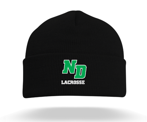 ND Lacrosse Pacific Headwear (Beanie) Black
