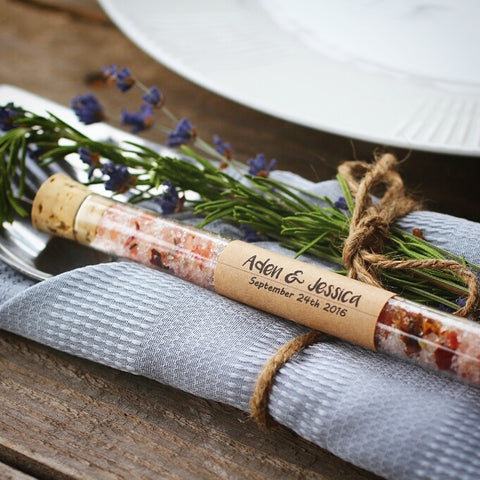 Wedding Favor Glass Vial