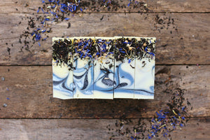 Earl Grey Handcrafted Artisan Rough Cut Soap