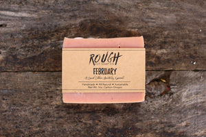 February - A Limited Edition Bar Handcrafted Artisan Rough Cut Soap
