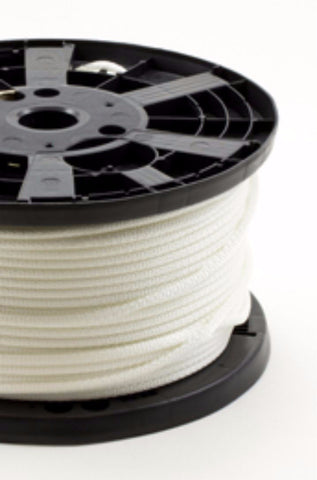 "1/4"" - #8 - White Polyester Neobraid Rope - 500' Spool"
