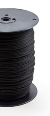 "1/8"" - #4 - Black Polyester Neobraid Rope - 1000' Spool"
