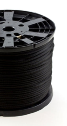 "1/4"" - #8 - Black Polyester Neobraid Rope - 1000' Spool"