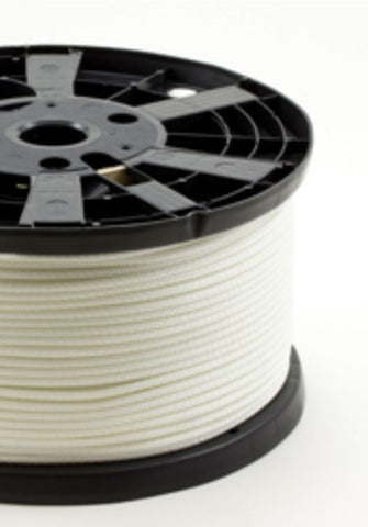 3/16 - #6 - White Polyester Neobraid Rope - 1000' Spool