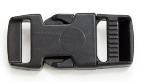 "3/4"" Side Release Buckle - Black - Plastic"