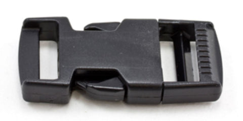 "1"" Side Release Buckle - Black - Plastic"