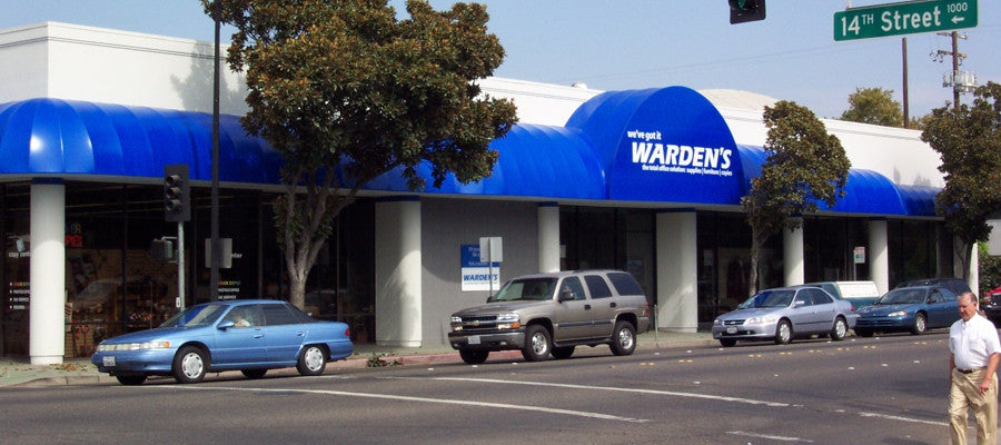 Warden's Office. Long Dome Vinyl Awning with Backlit Material.