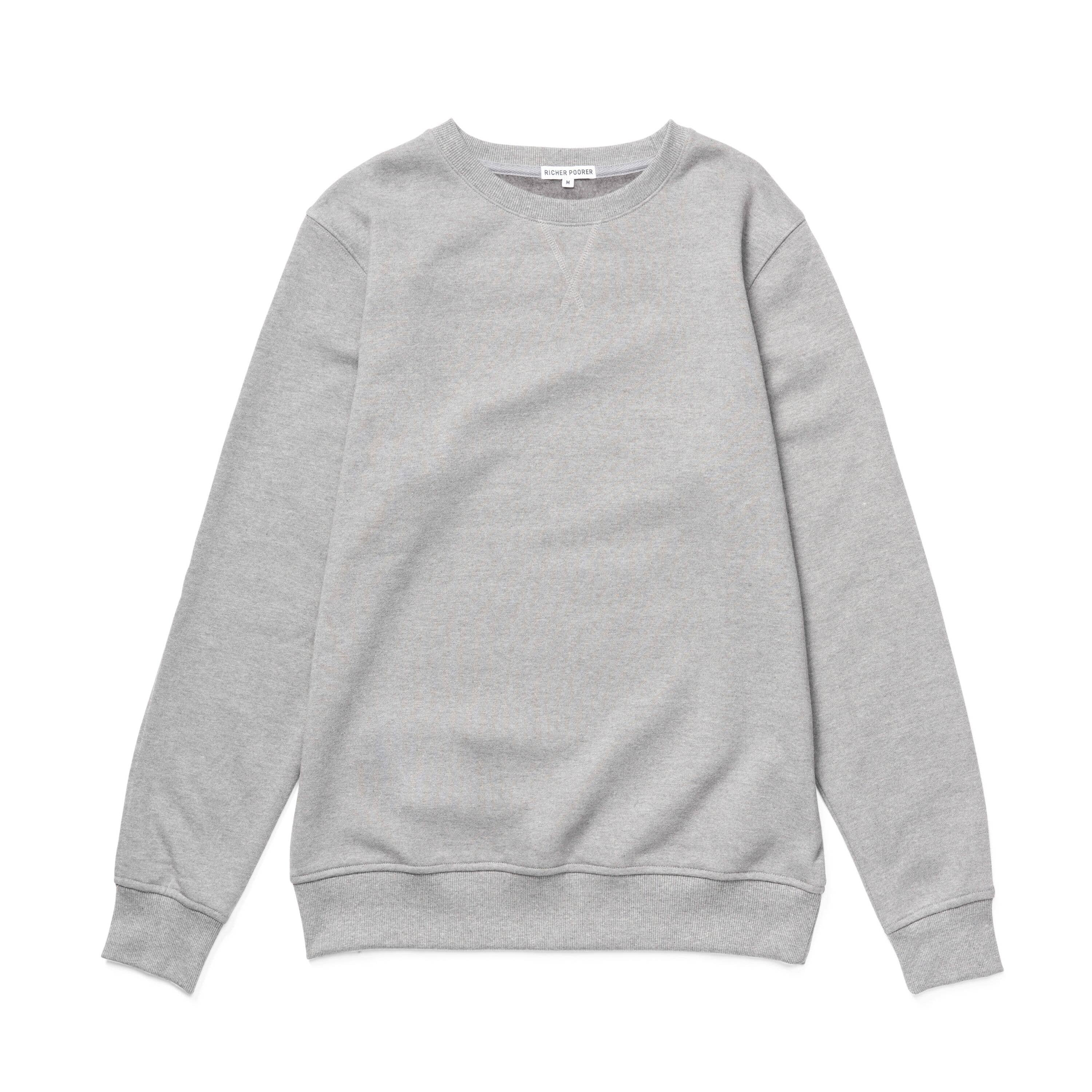 NEW YORKER ENZYME WASHED - Men's Crew Sweatshirt - Light Heather Gray