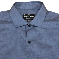 ALEXANDER 19 // HEATHER BLUE Men's Dress Shirts  BY  ROBERT JAMES