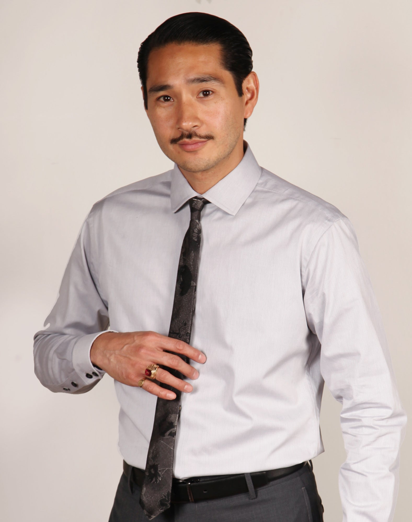 ANTHONY // GREY Men's Dress Shirts - BY - ROBERT - JAMES -