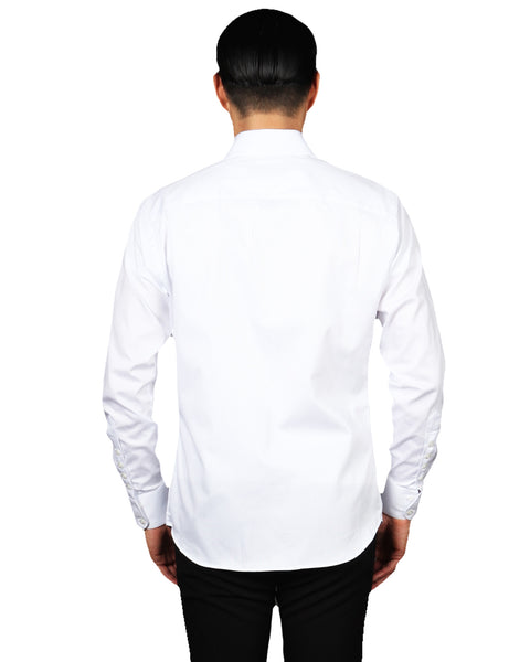 ANTHONY 18 // WHITE Men's Dress Shirts - BY - ROBERT - JAMES -