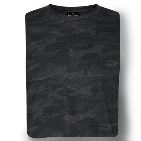 THE MAX TEE - Black Camo Men's Knit T-Shirt By Robert James