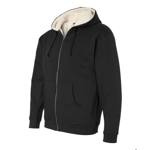 BRJ ORCHARD // BLACK Sherpa Lined Heavyweight Hoodie