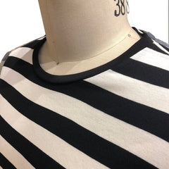 TK 19 - STRIPE BLACK WHITE Men's Knit T-Shirt By Robert James