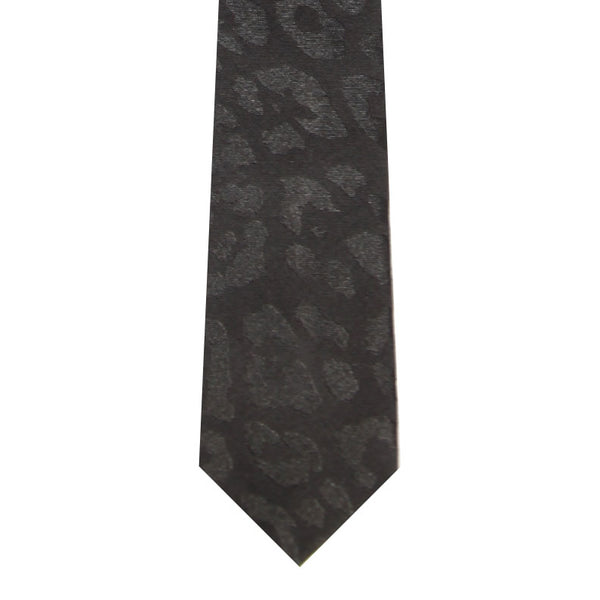 BRJ // BLACK LEOPARD TIE Men's Ties By Robert James