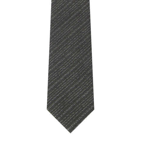 BRJ // BLACK/CHARCOAL STRIPE TIE Men's Ties By Robert James