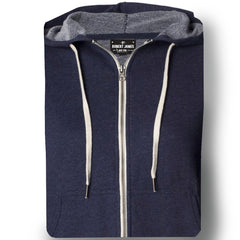 BROADWAY MARINE -Full Zip Hoodie  French Terry Men's Knit By Robert James
