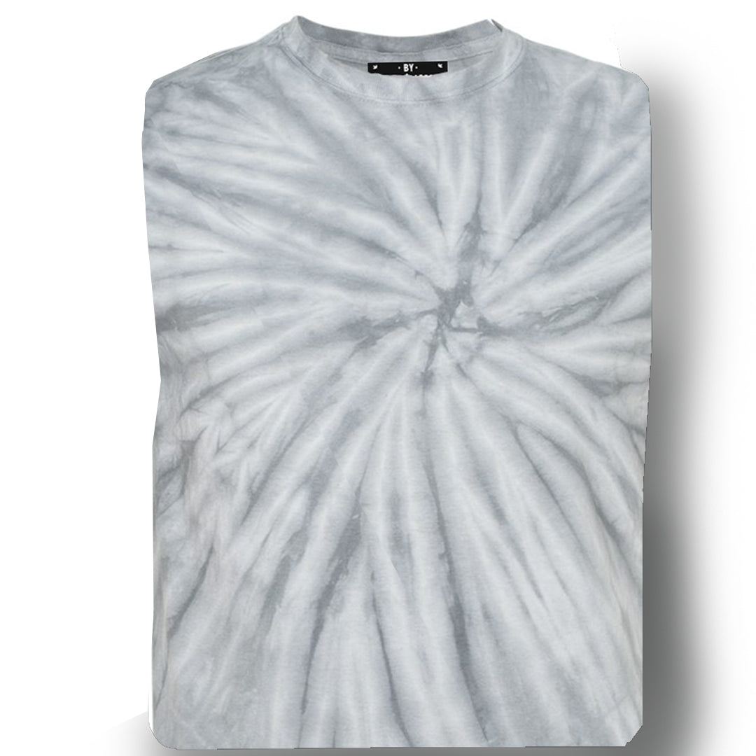 GREY CYCLONE TIE DIE / Men's Knit T-Shirt By Robert James