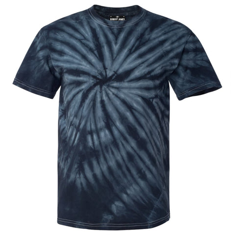 NAVY CYCLONE TIE DIE / Men's Knit T-Shirt By Robert James