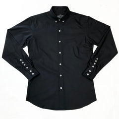BOND - MOD BUTTON DOWN BLACK OXFORD CLOTH SHIRT