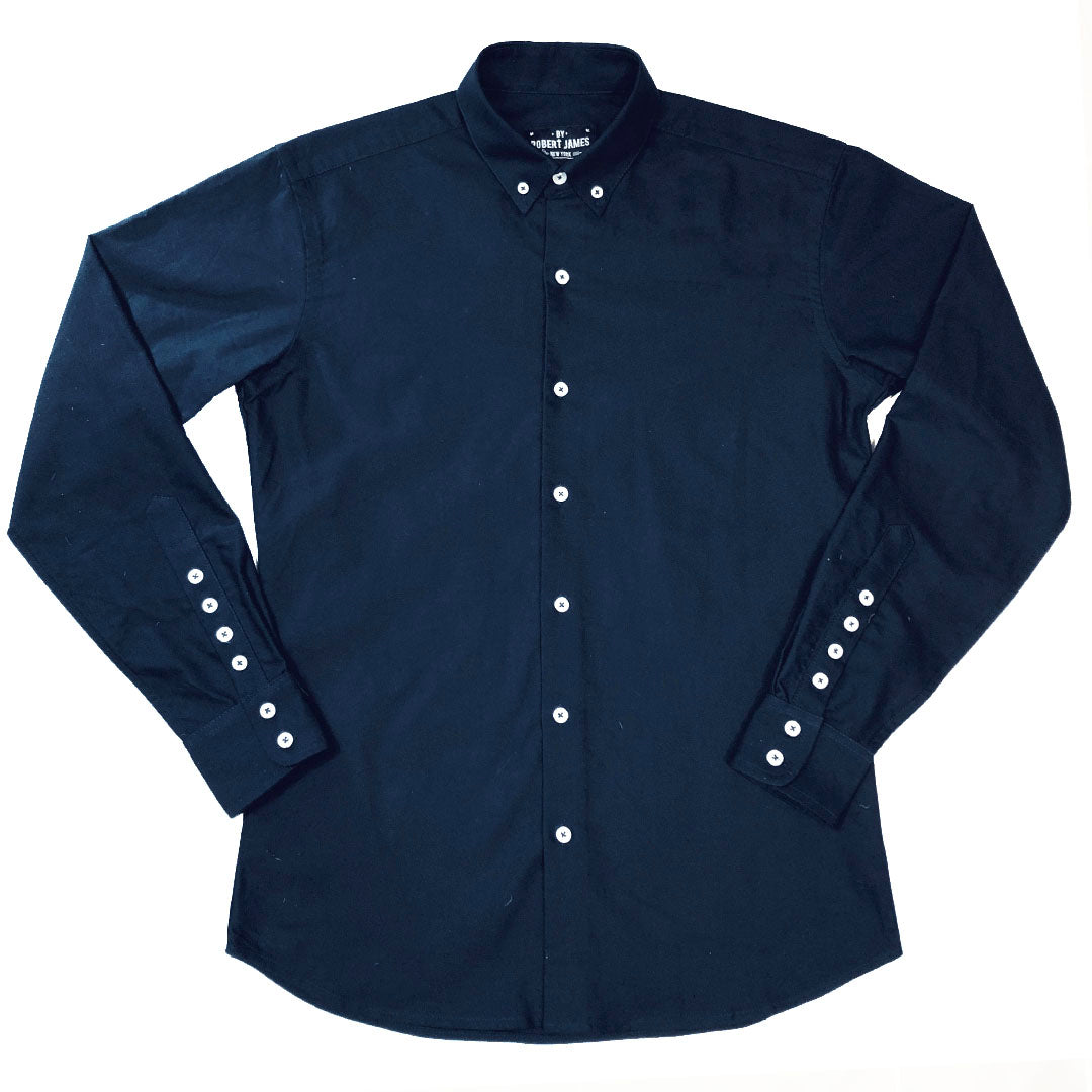 BOND - MOD BUTTON DOWN NAVY OXFORD CLOTH SHIRT