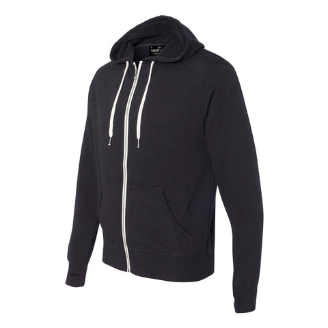 BROADWAY - BLACK   Full Zip Hoodie -  French Terry  Men's Knit By Robert James
