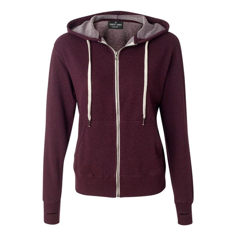 BROADWAY OXBLOOD -Full Zip Hoodie  French Terry Men's Knit By Robert James