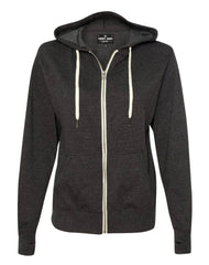 BROADWAY  HEATHER CHARCOAL French Terry Full Zip Hoodie Men's Knit By Robert James